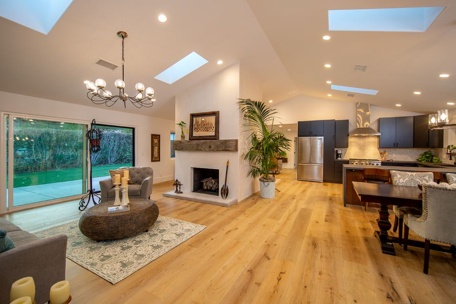Open Floor Plan with Gas Fireplace in Ojai
