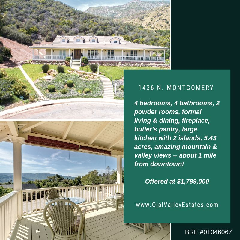 Ojai Home for Sale near Downtown