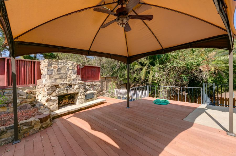 Patio Fireplace at Downtown Ojai Home for Sale