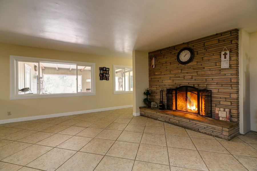 Fireplace in Ojai Home for Sale