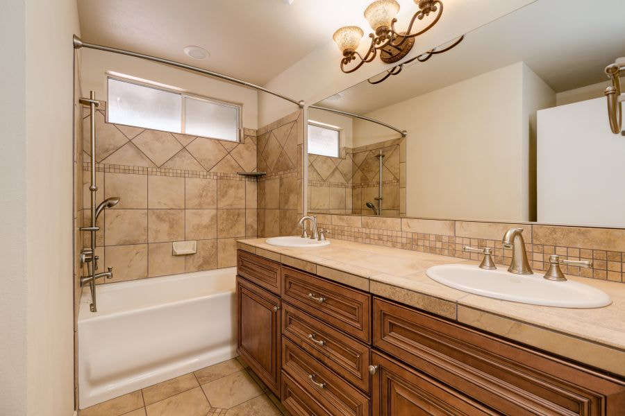 Remodeled Guest Bathroom in Ojai Home for Sale