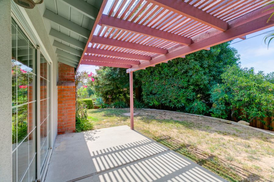 Patio with Pergola at Ojai Home for Sale