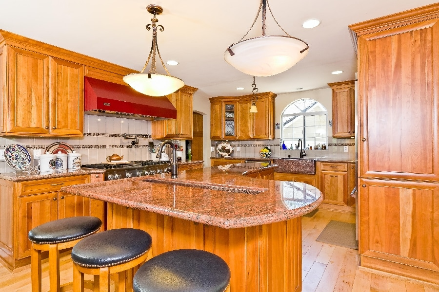 remodeled kitchen in ojai home for sale