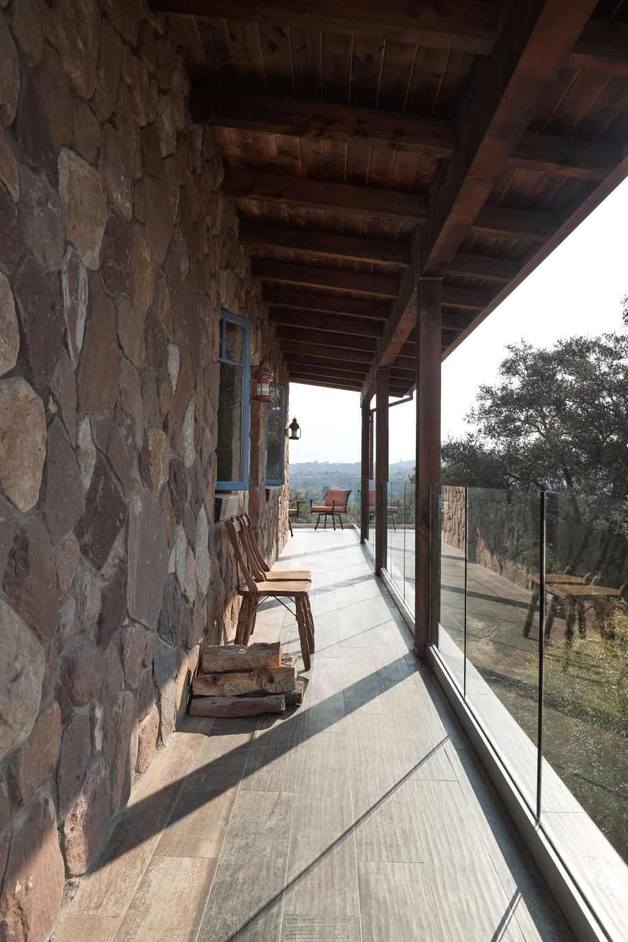 Porch at Lucky Q Ranch in Ojai