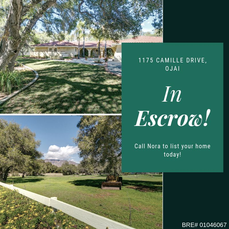 Ojai Home for Sale in Escrow