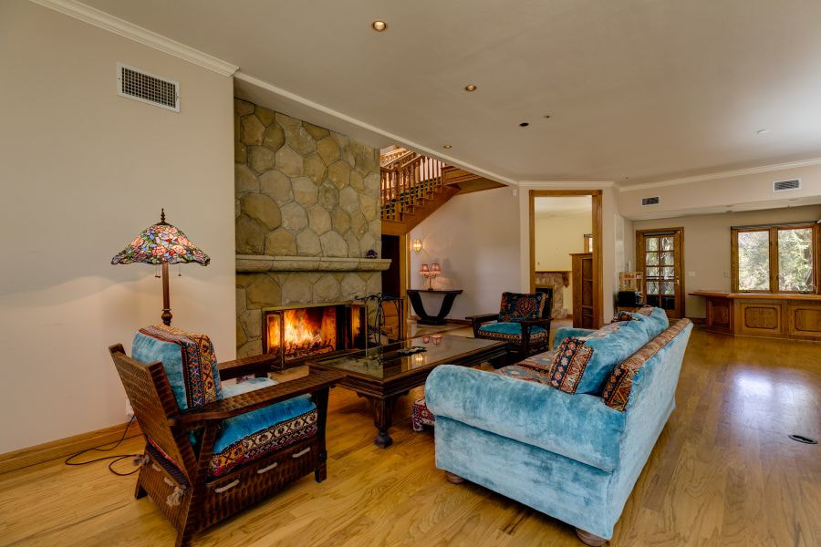 Stone Fireplace in Ojai