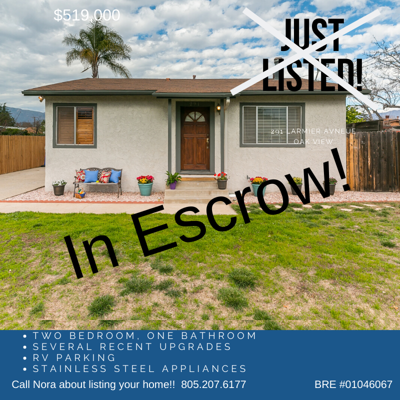 Oak View Home In Escrow