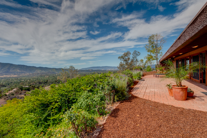 Mountain and Valley Views from Ojai custom home for sale